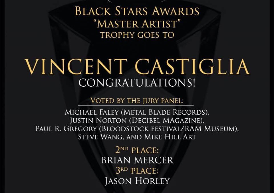 "VINCENT CASTIGLIA Awarded ""Master Artist"" Award, Darkadya Black Stars Awards"