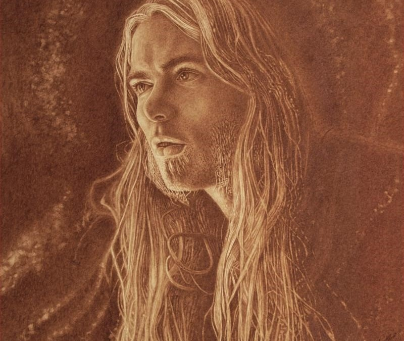 VINCENT CASTIGLIA Memorializes GREGG ALLMAN in Portrait Painted with Late Musician's Own Blood – Striking Art Included in Southern Blood Deluxe Package/Vinyl First Edition